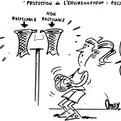 caricature recyclage